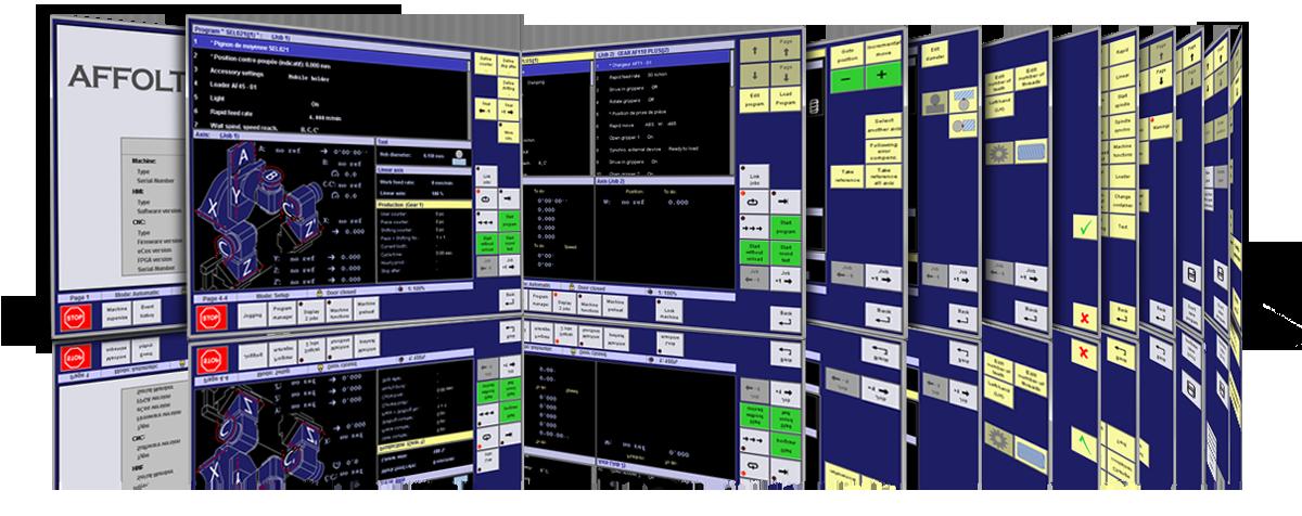 AFFOLTER Leste HMI, commande numérique, logiciel Affolter pour machine-outil universelle