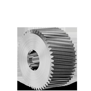 Cylindre taillage droit Ø15x8mm en acier - Engrenage AFFOLTER sur machine à tailler CNC