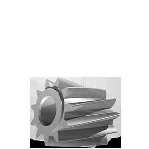 Cylindre taillage hélicoïdal bombé Ø10x9.4mm en acier - Engrenage AFFOLTER sur machine à tailler CNC